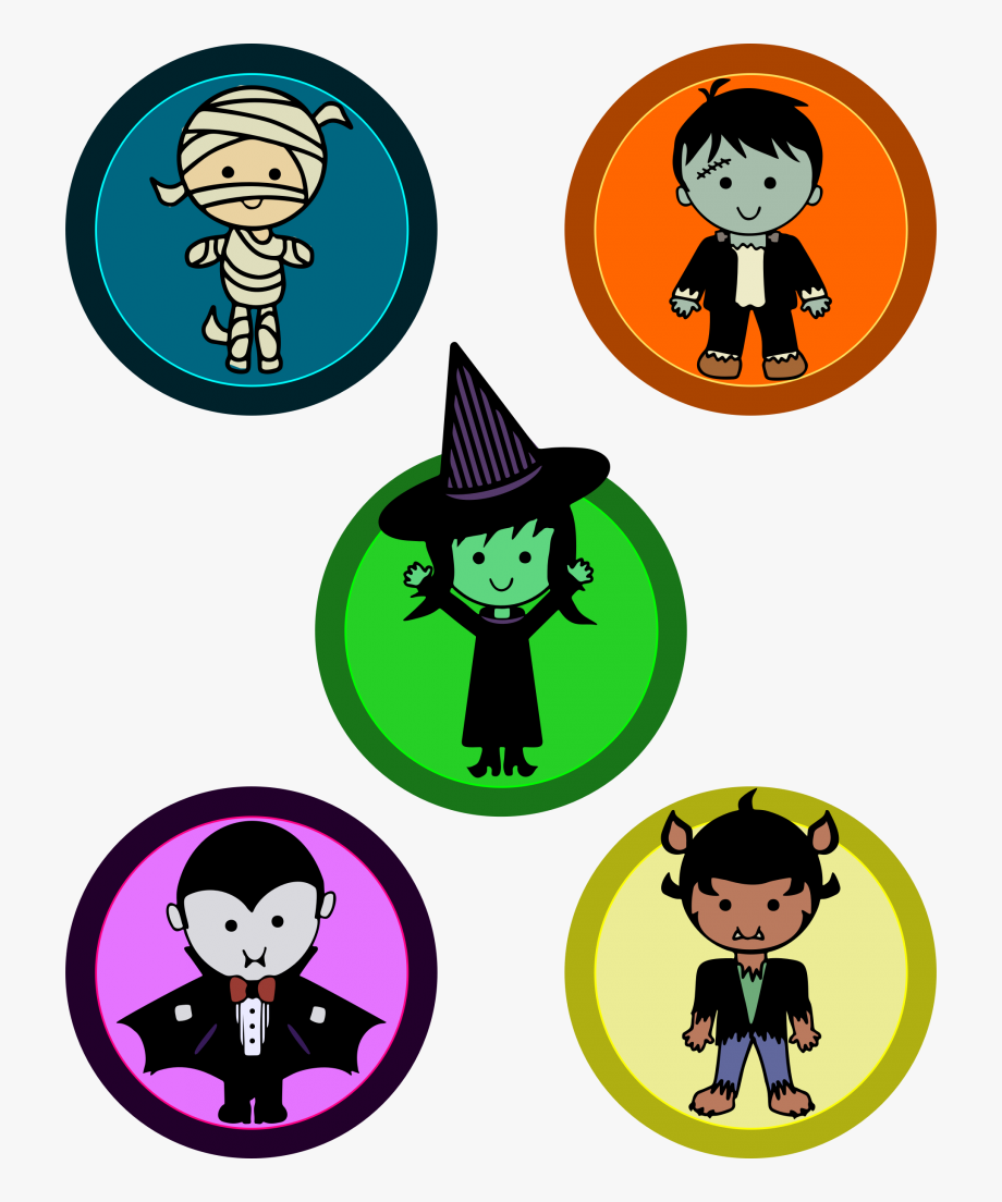 Cute Halloween Vector Free Transparent.