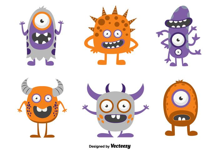 Funny cartoon monsters.