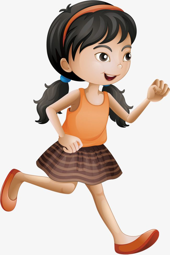 Running Girl, Running Vector, Girl Vector, Vector Png PNG.