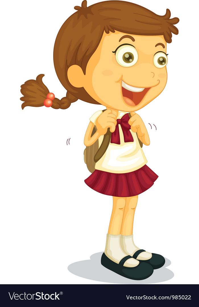 Girl going to school.
