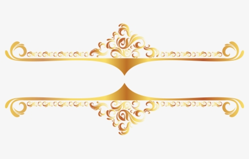 Free Gold Border Clip Art with No Background.