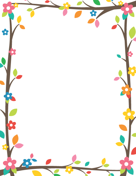 Tree Branch Border: Clip Art, Page Border, and Vector Graphics.