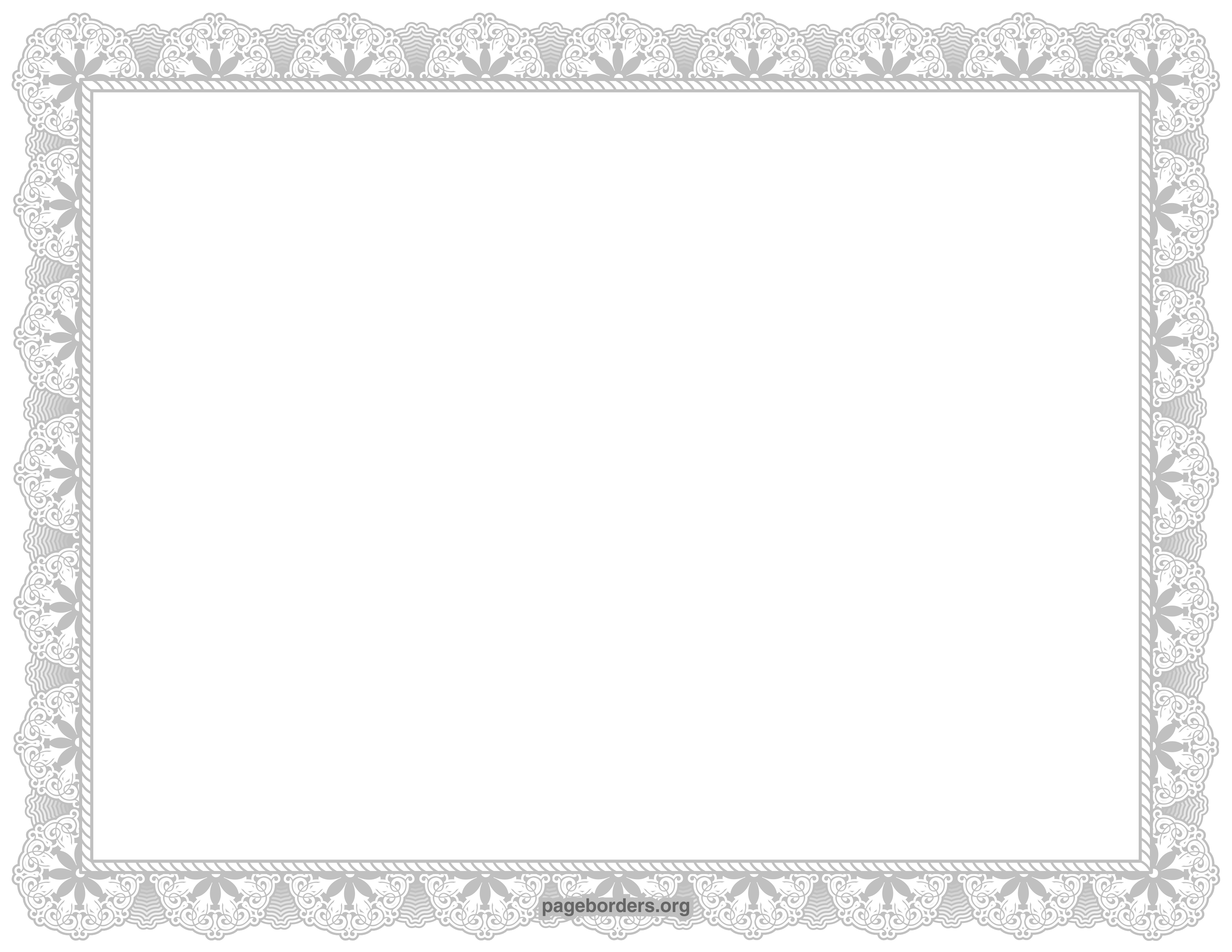 Silver Certificate Border Clip Art Page Border And Vector.
