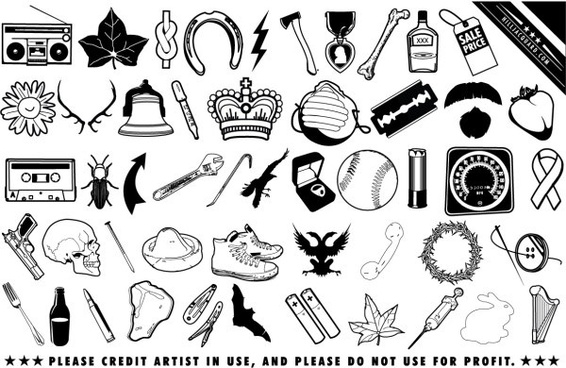 Free black and white clip art free vector download (222,451.