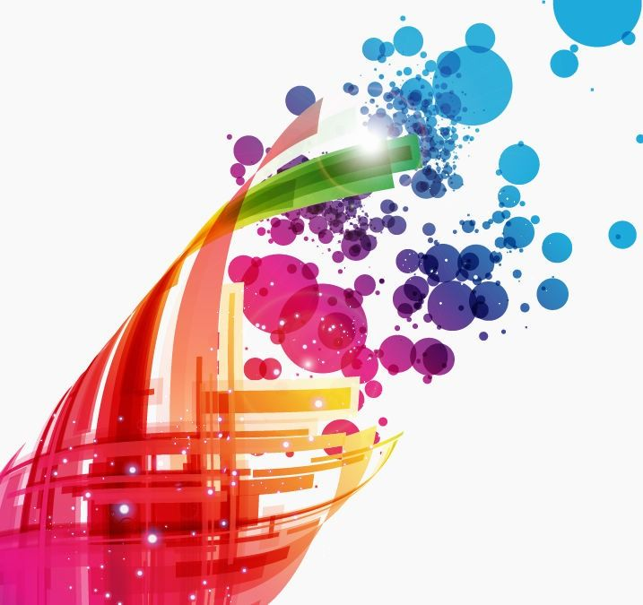 Colorful Abstract Design Background Vector Art.