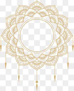 2019 的 Gold Mandala Title, Vector Png, European Style.