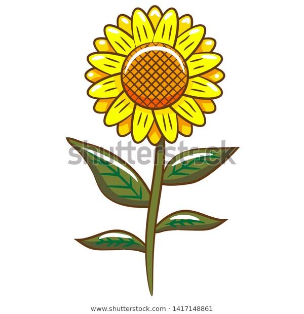sunflower clipart ,sunflower vector ,sunflower design.