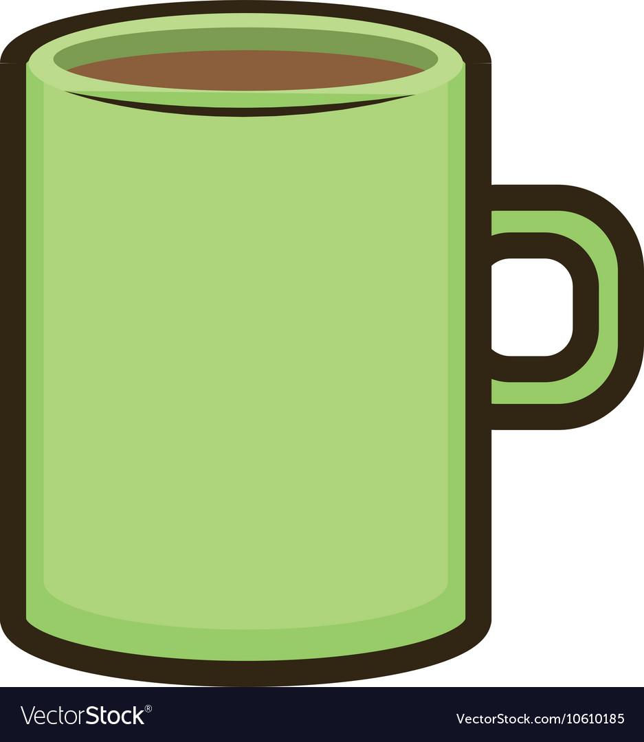 Green mug coffee.