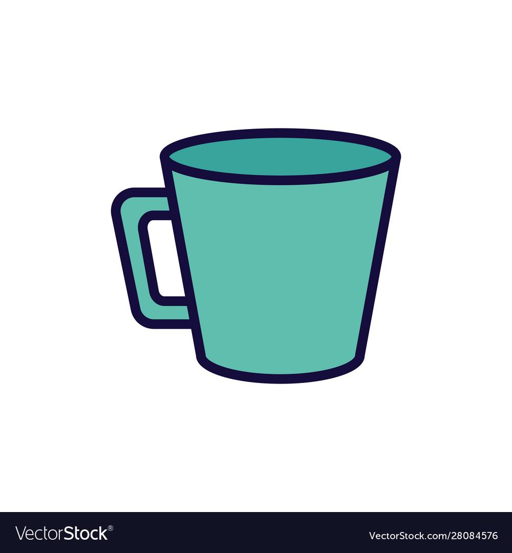 Green coffee cup ceramic icon.