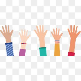 Everybody Stretched Out His Hand, Vector Png, Raise Your.