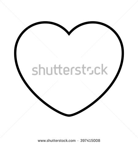 Black Heart Outline Stock Images, Royalty.