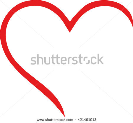 Heart Outline Vector Stock Images, Royalty.