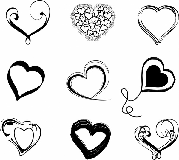 Heart outline free vector download (8,204 Free vector) for.