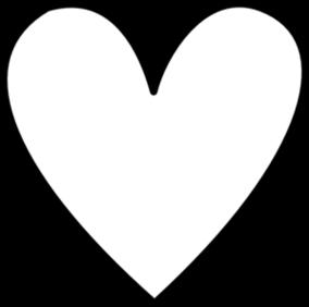 Vector heart outline clipart.