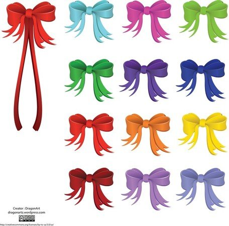 Vector Holiday Ribbon Clipart Picture Free Download.