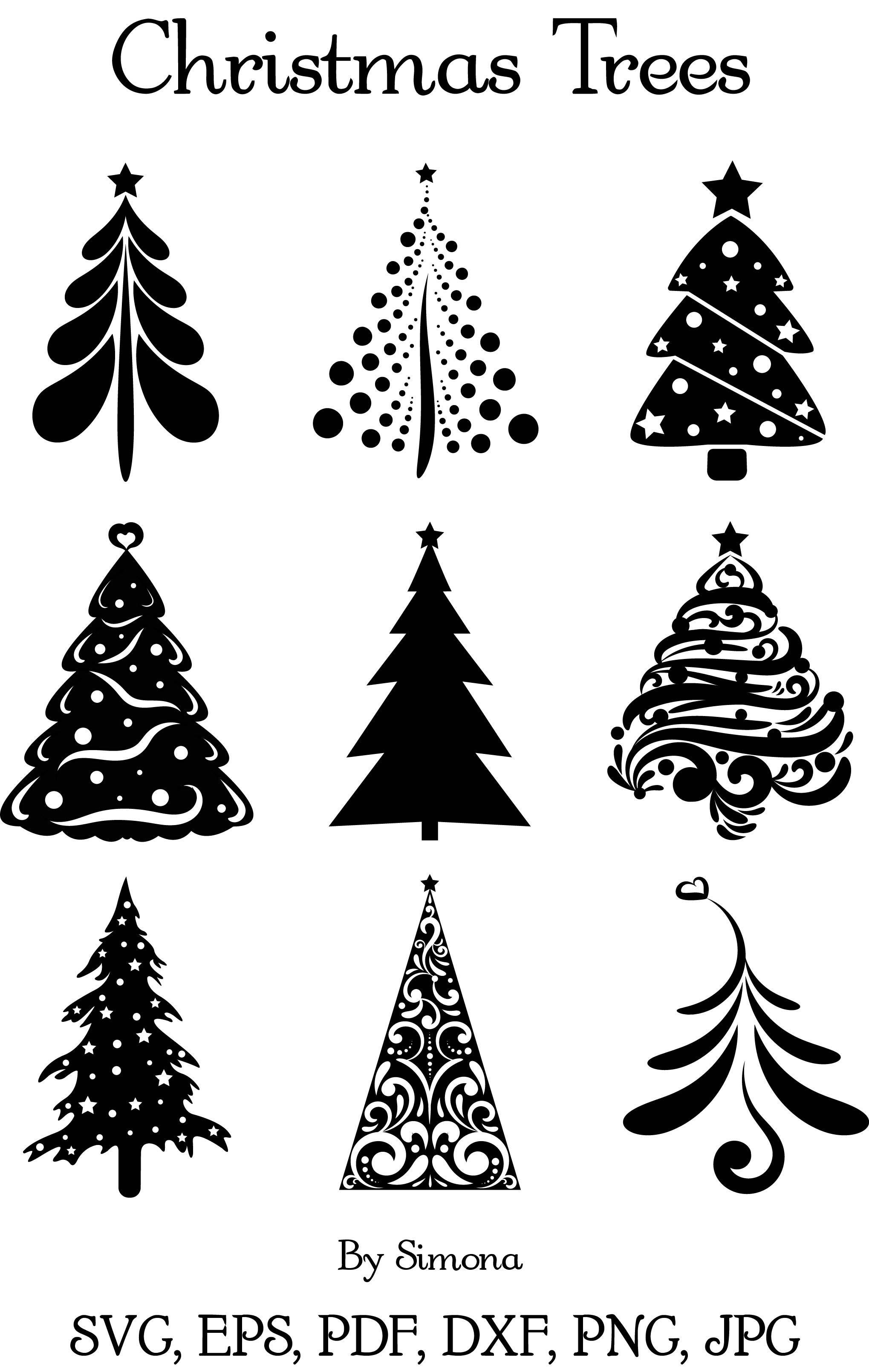 Christmas Trees SVG/PNG.