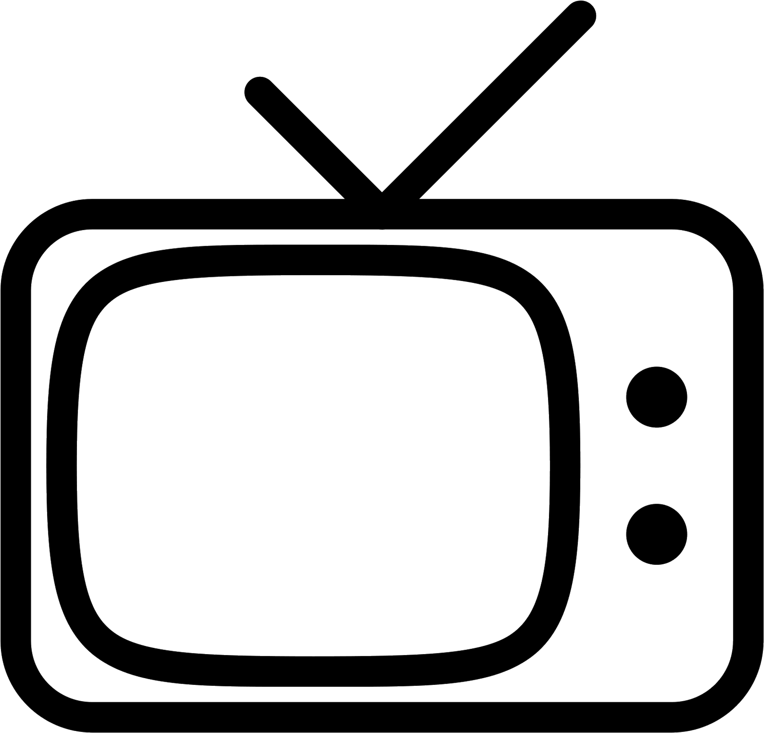 Retro Tv Icon.