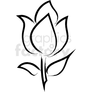 flower drawing vector icon clipart. Royalty.