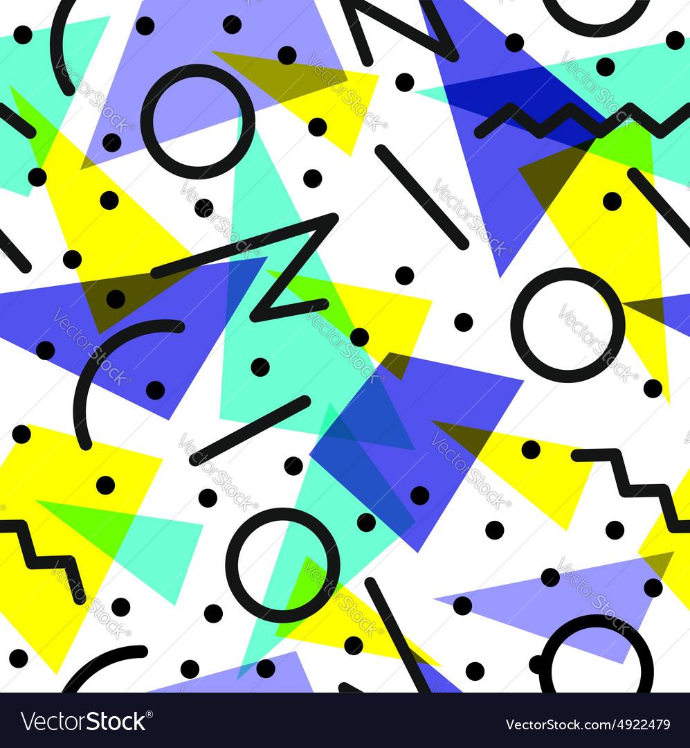 Retro 80s pattern background.