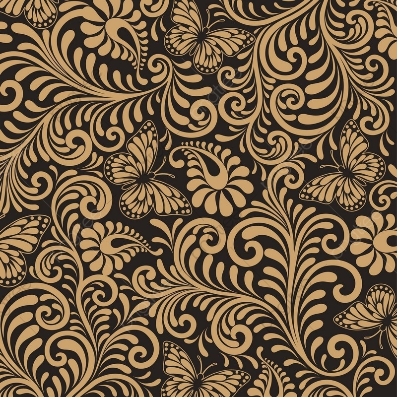 Seamless Floral Pattern Background Luxury Style Background.