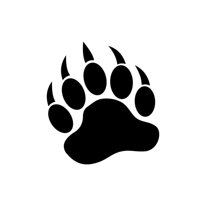 Bear Paw Wild graphics design SVG DXF EPS Png.