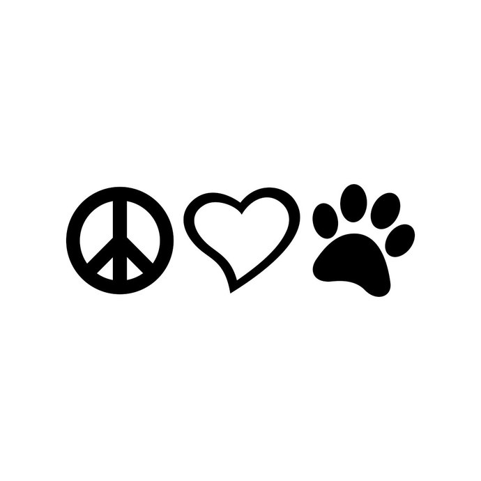 Peace Love Paw graphics design SVG DXF EPS Png Cdr Ai Pdf Vector Art  Clipart instant download Digital Cut Print Files T.