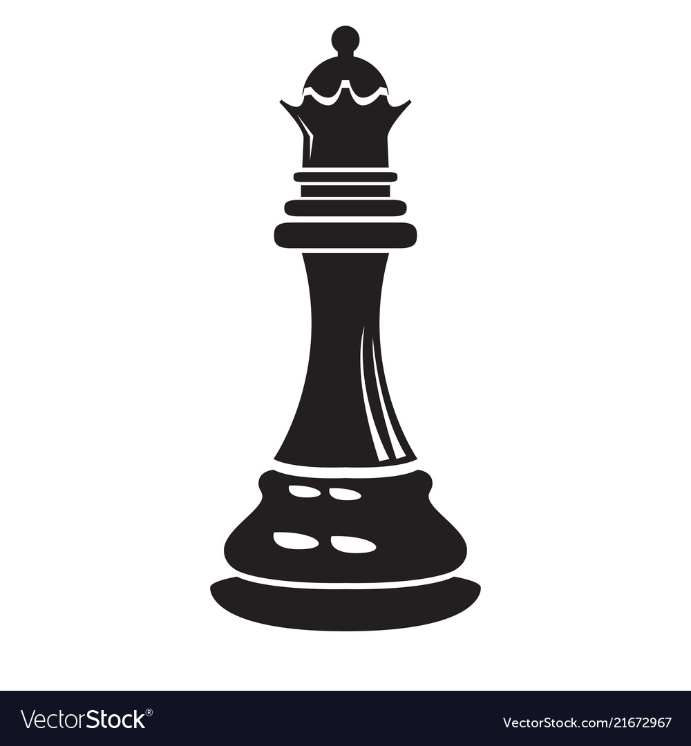 Isolated queen chess piece icon.