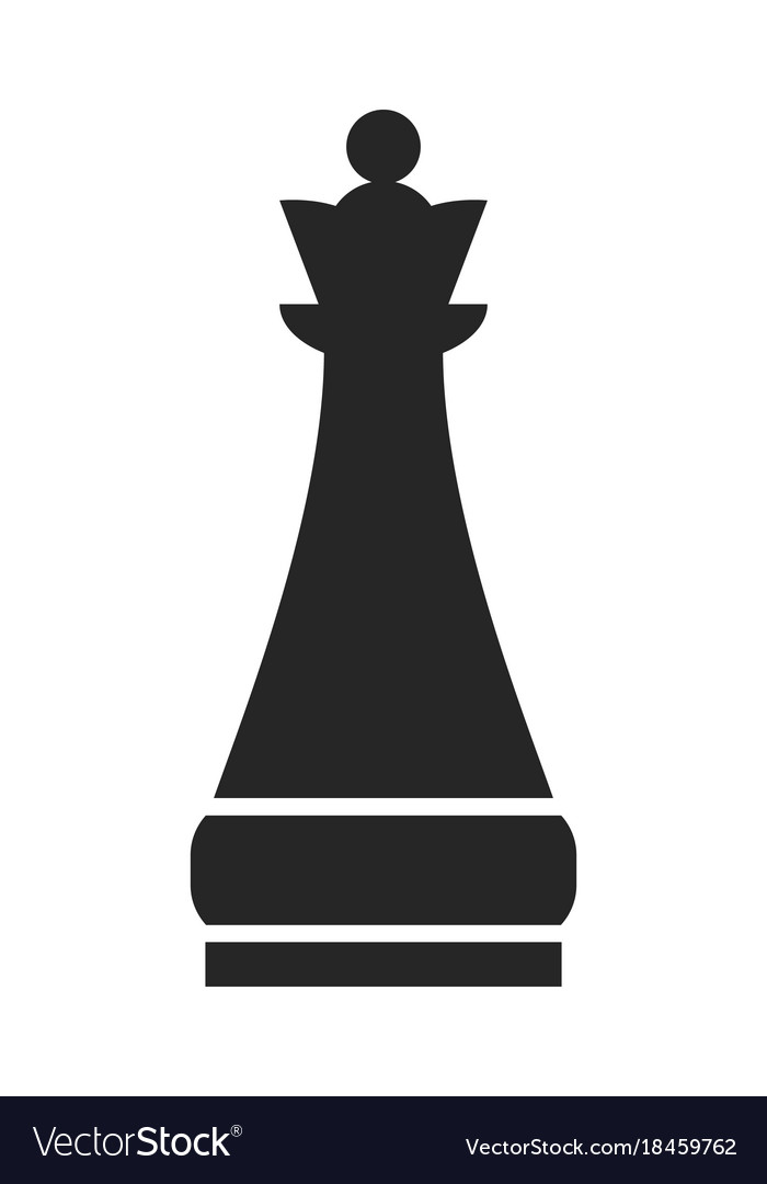 Chess piece queen flat object on a white.