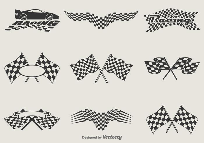 Vector Racing Flags.