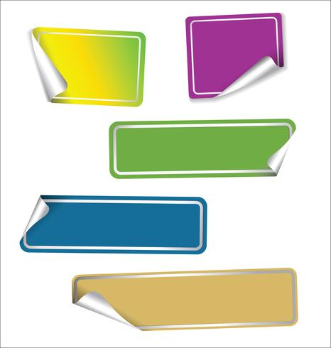Collection of sale stickers with rounded corners.