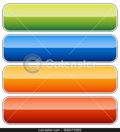 Empty rectangular button, banner backgrounds with rounded.