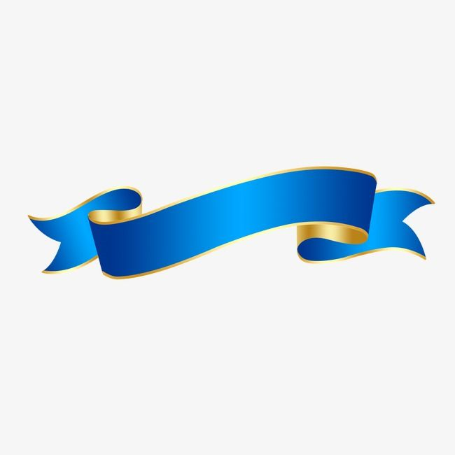 Colored Ribbon, Blue, Dynamic PNG Transparent Clipart Image.