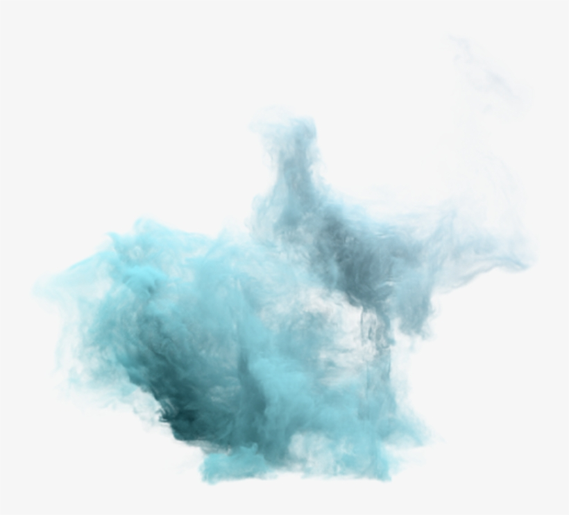 Teal Smoke Png Vector Freeuse.
