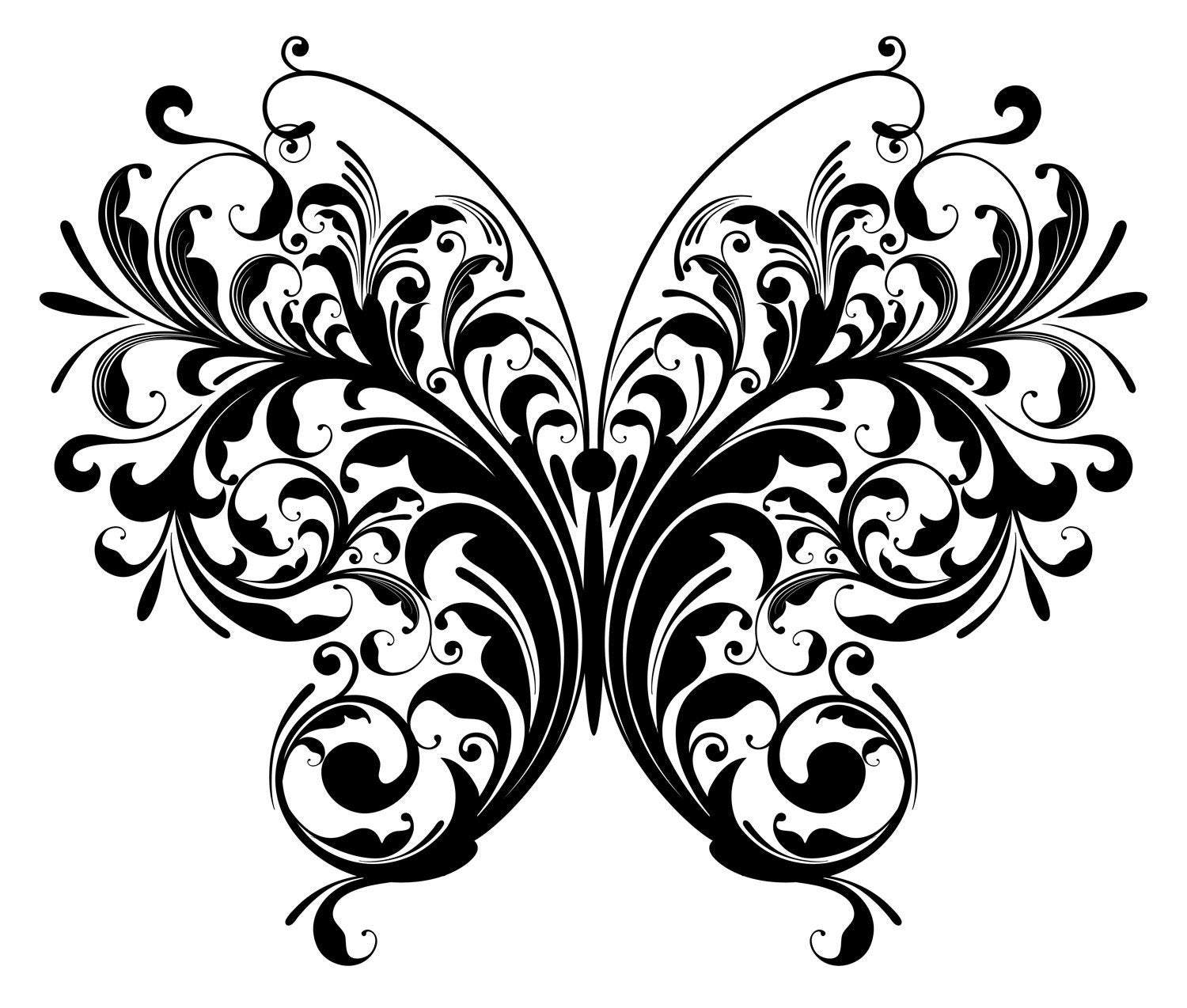 Butterfly SVG file, Butterfly Silhouette, Butterfly Clipart, Cut File,  Butterfly Vector, svg, dxf, eps, png.