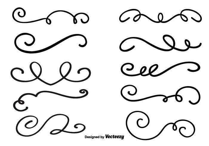 Decorative Vector Swirls.