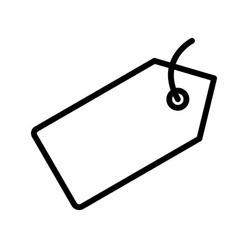 Vector Tag Icon.