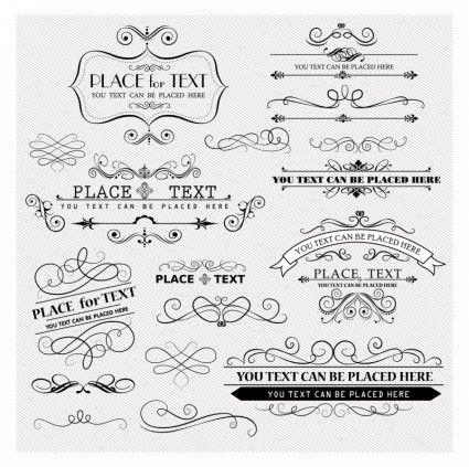 Free Vector Vintage Design Elements.