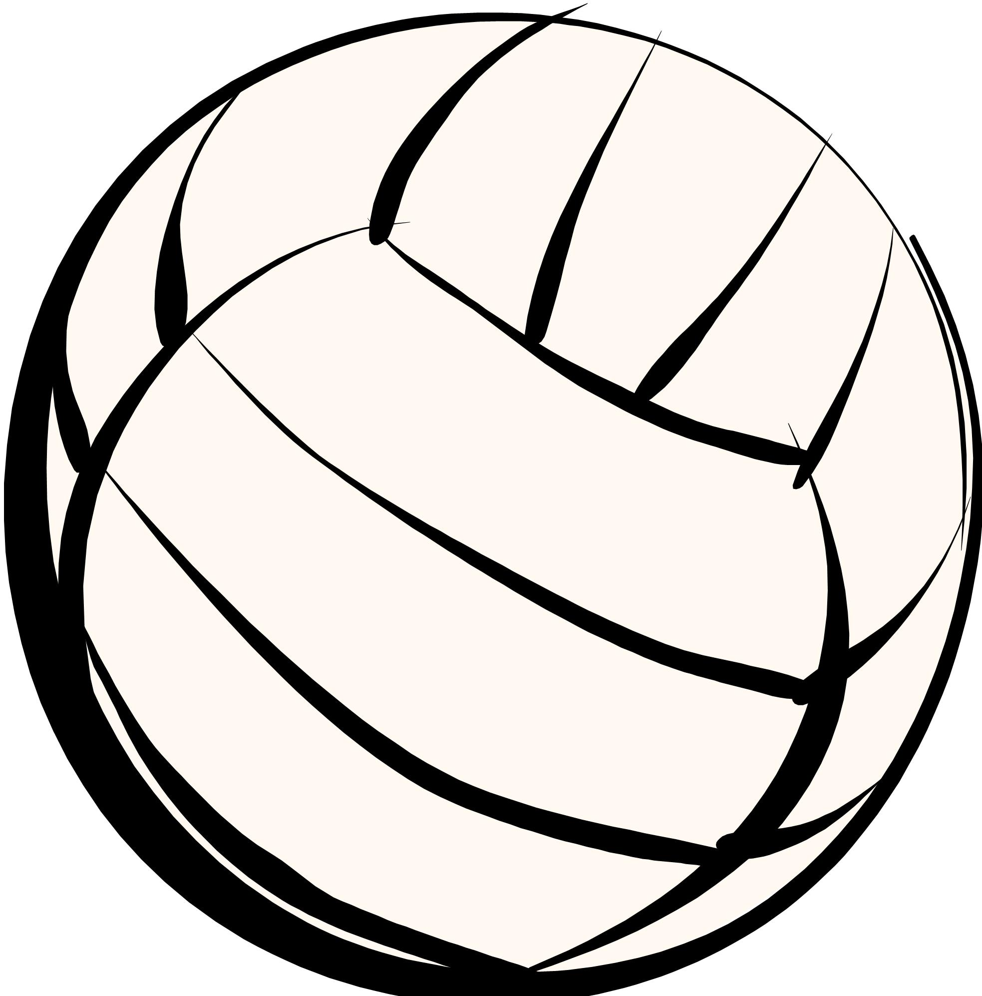 Vector Volleyball Clip Art free image.