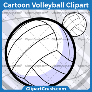 Cartoon Volleyball Clipart.