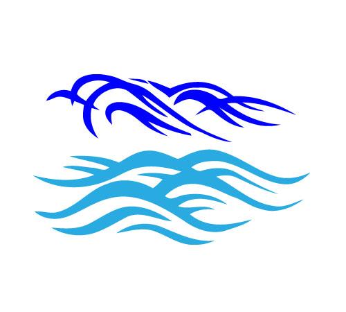 Ocean Waves Vector.