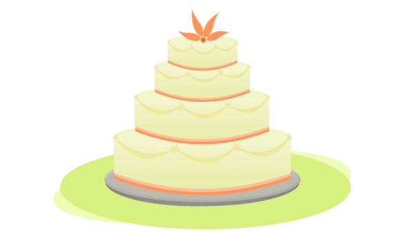 Vector Wedding Cake.