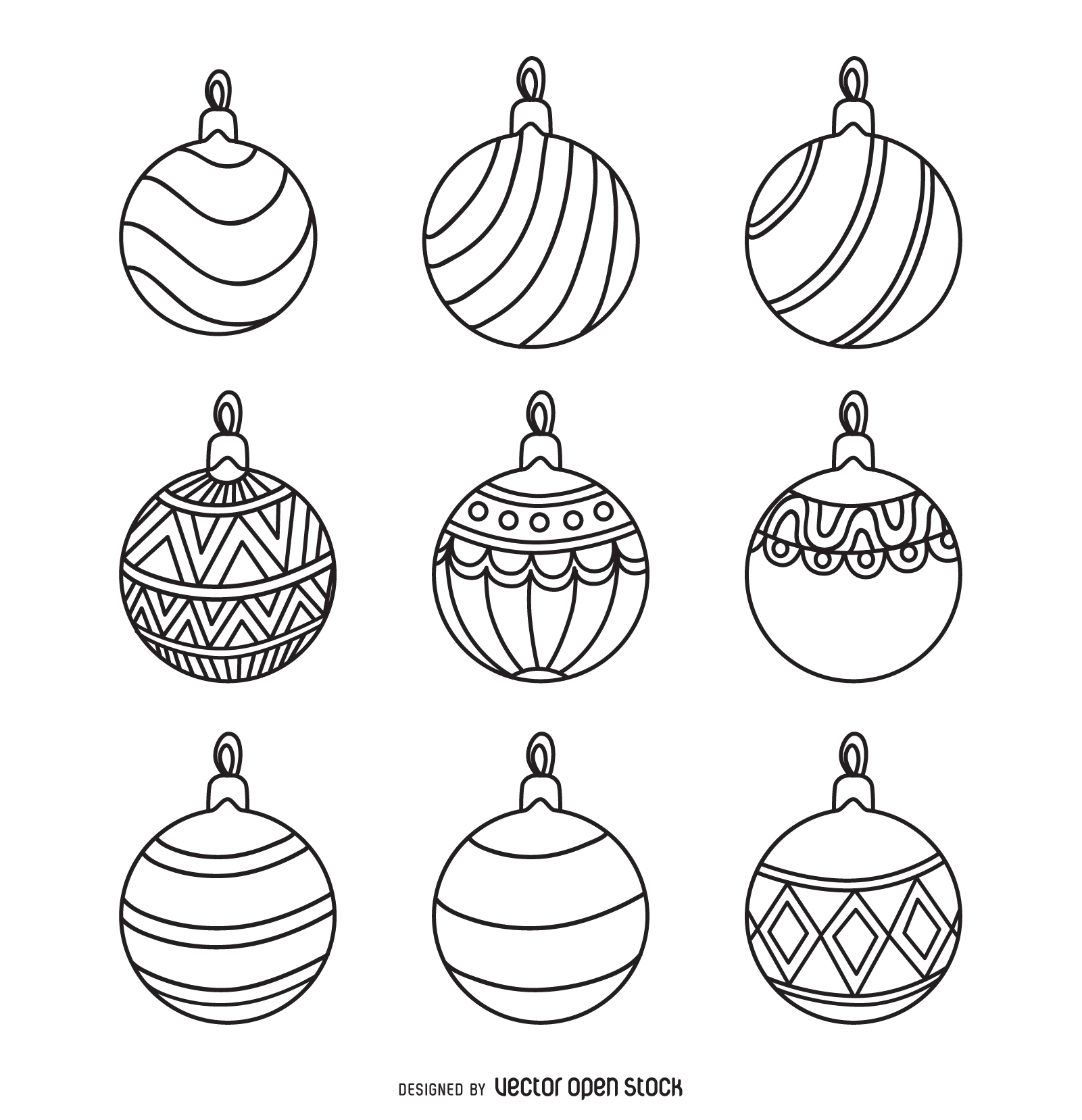 Ornament Outline Clipart.