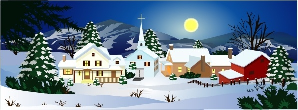 Winter landscape clipart free vector download (5,875 Free.