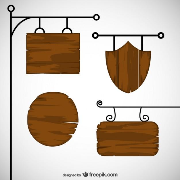 Wood Sign Vectors, Photos and PSD files.