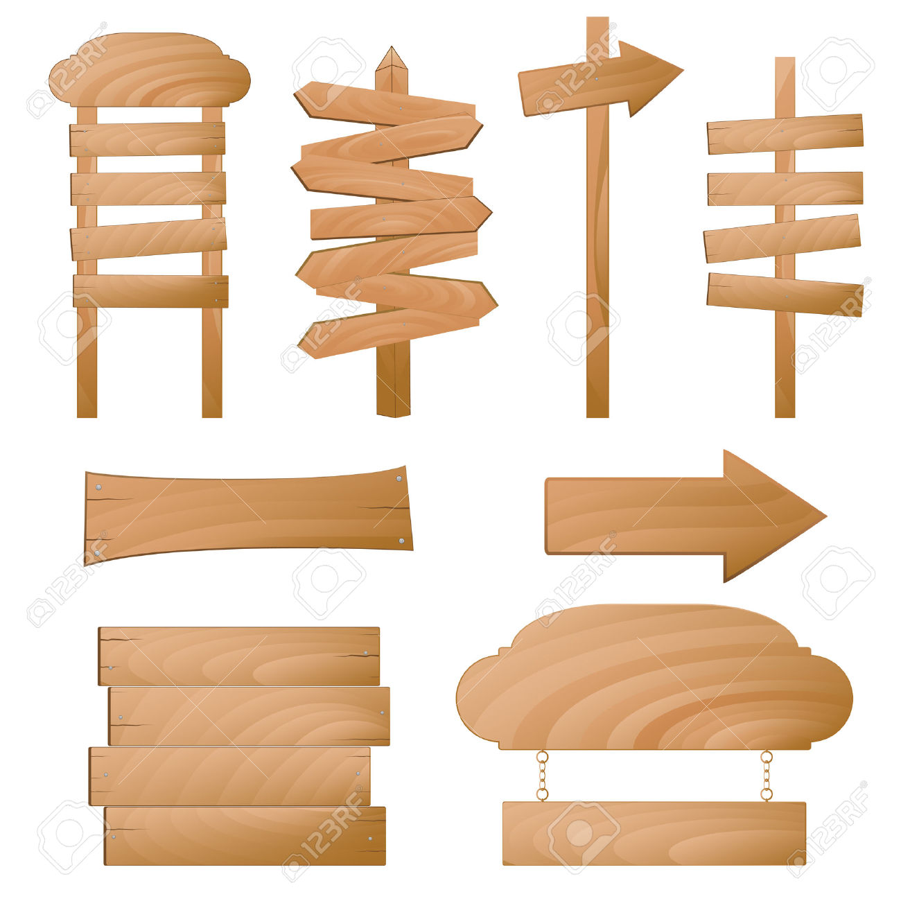 Wooden Signs Royalty Free Cliparts, Vectors, And Stock.