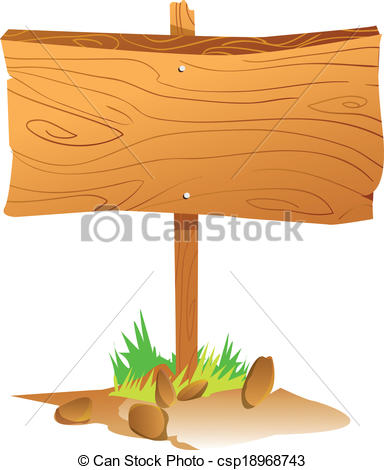 EPS Vector of Wooden Sign Board.