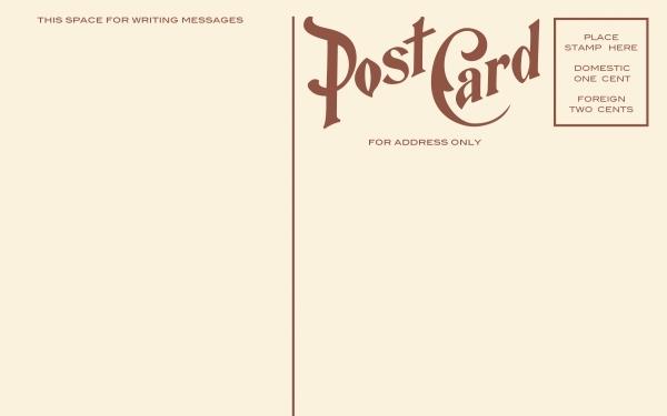 Blank Vintage Postcard.