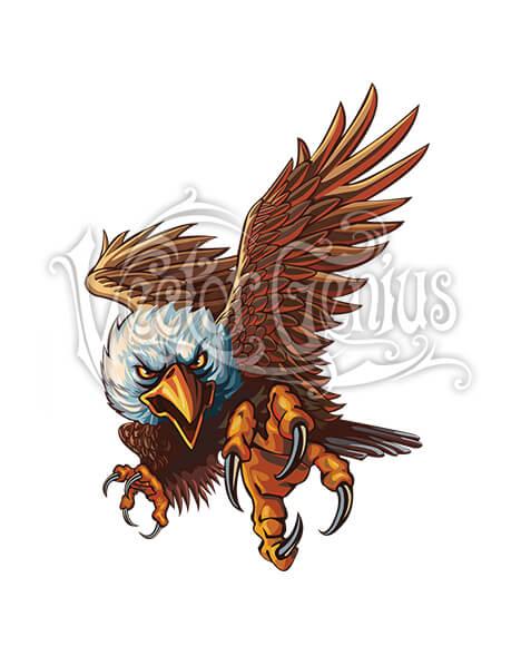 Vector Genius Patriotic Eagle Vector ClipArt.