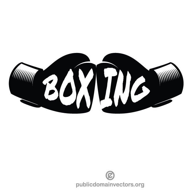 Boxing gloves vector clip art.