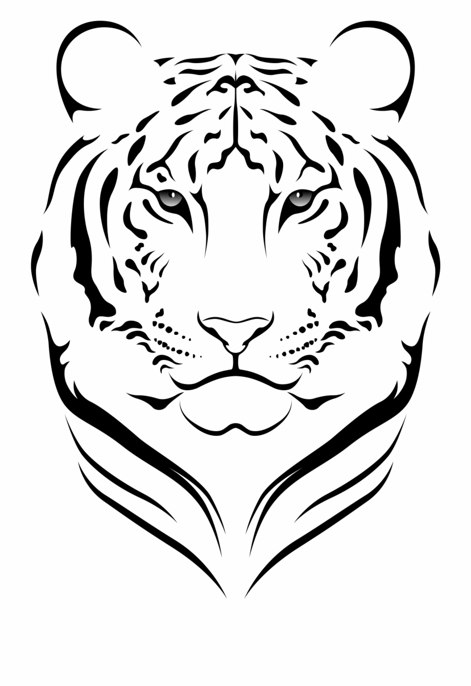 Tiger Black And White Clipart.